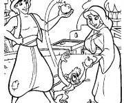 Coloriage Aladdin 30