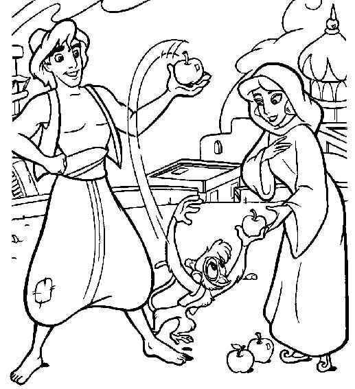 Coloriage et dessins gratuits Aladdin 30 à imprimer
