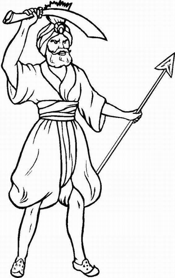 Coloriage et dessins gratuits Aladdin 33 à imprimer