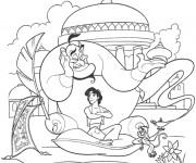 Coloriage Aladdin 47