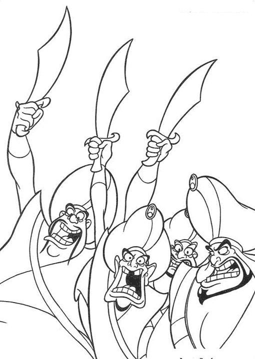 Coloriage et dessins gratuits Aladdin 55 à imprimer