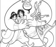 Coloriage et dessins gratuit Aladdin et ses amis à imprimer
