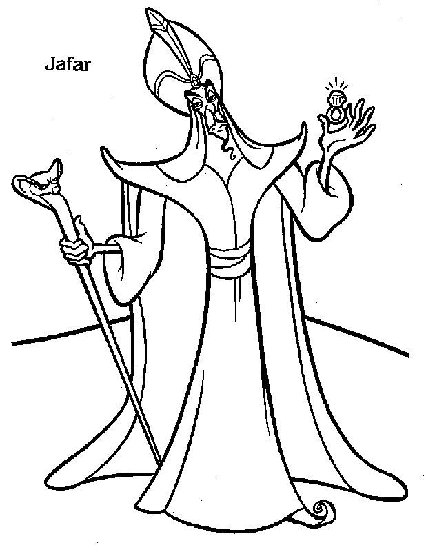 Coloriage et dessins gratuits dessin de Jafar à imprimer