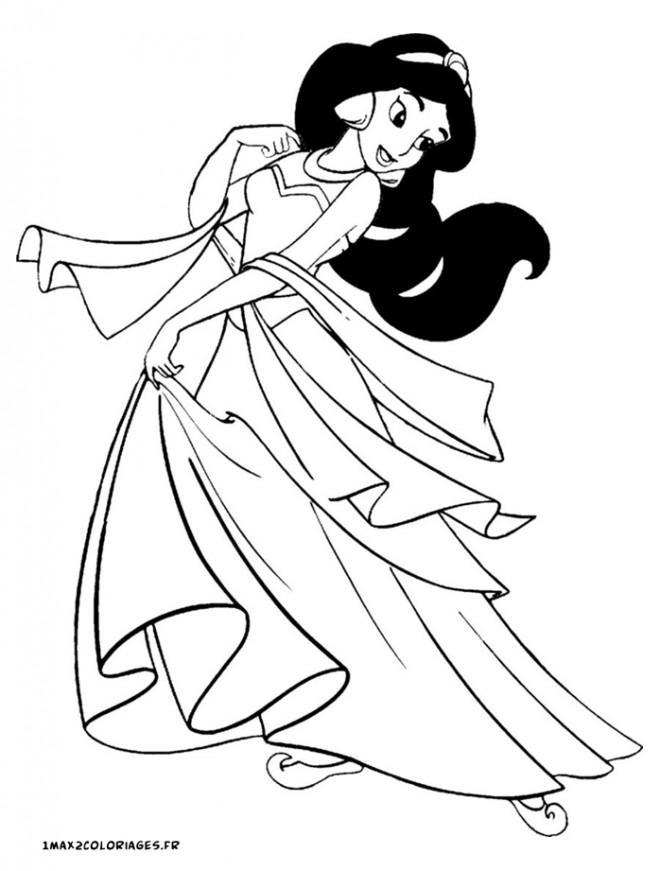 Coloriage dessin de jasmine dessin gratuit imprimer - Dessin a imprimer aladin ...