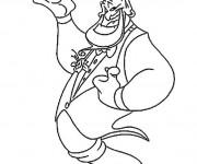 Coloriage et dessins gratuit Le génie d'Aladdin Disney à imprimer
