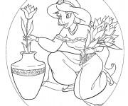 Coloriage Les fleurs de Jasmine