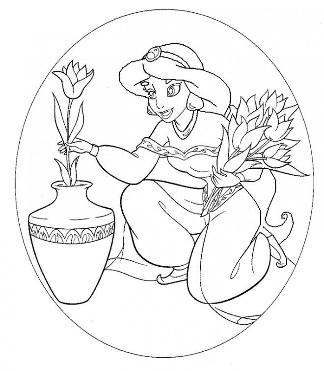 Coloriage et dessins gratuits Les fleurs de Jasmine à imprimer