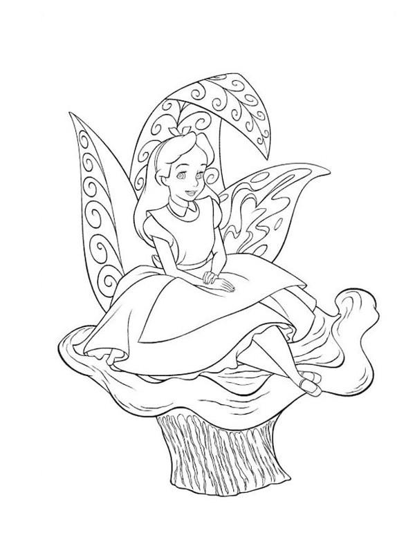 Coloriage et dessins gratuits Alice au pays des merveilles 14 à imprimer