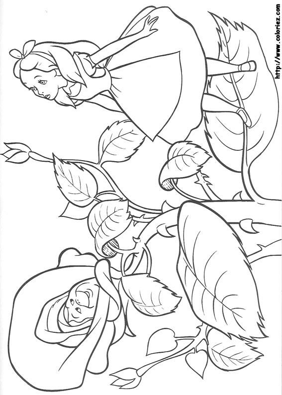 Coloriage et dessins gratuits Alice au pays des merveilles 16 à imprimer