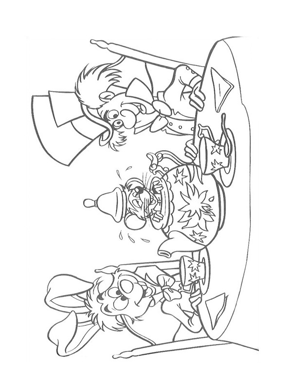 Coloriage et dessins gratuits Alice au pays des merveilles 62 à imprimer