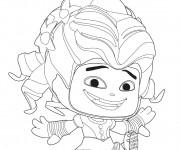 Coloriage Alice au pays des merveilles caricature