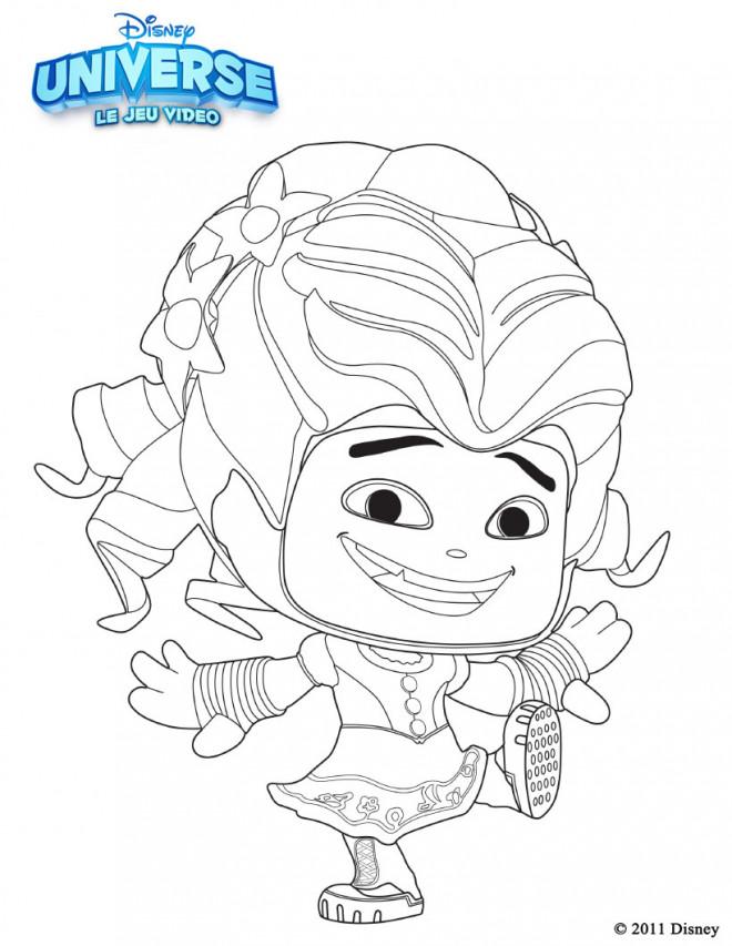 Coloriage et dessins gratuits Alice au pays des merveilles caricature à imprimer