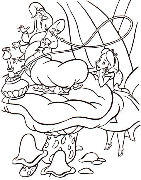 Coloriage et dessins gratuits Alice au pays des merveilles Disnet à imprimer