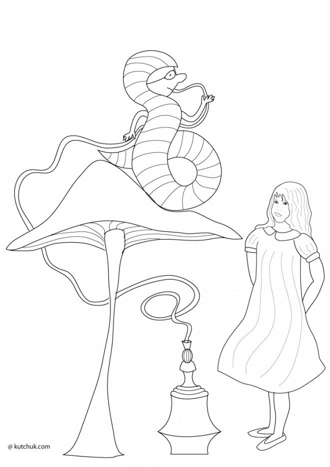 Coloriage Alice Au Pays Des Merveilles Facile Dessin Gratuit A