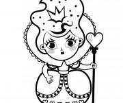 Coloriage Alice au pays des merveilles La reine