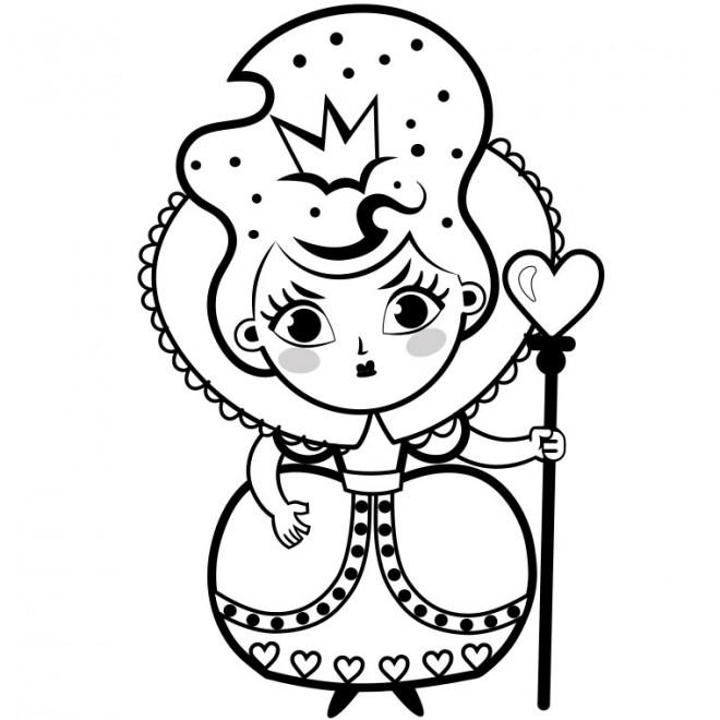 Coloriage et dessins gratuits Alice au pays des merveilles La reine à imprimer