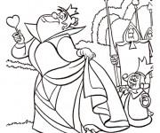 Coloriage et dessins gratuit Alice au pays des merveilles: La reine de coeur à imprimer
