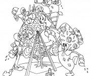 Coloriage Alice au pays des merveilles peint avec les cartes peintres