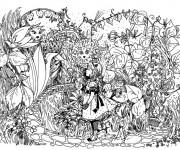 Coloriage Alice au pays des merveilles perdue