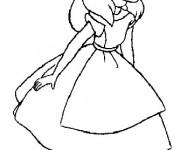 Coloriage et dessins gratuit Alice au pays des merveilles simple à imprimer