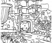 Coloriage Alice découvre un trou
