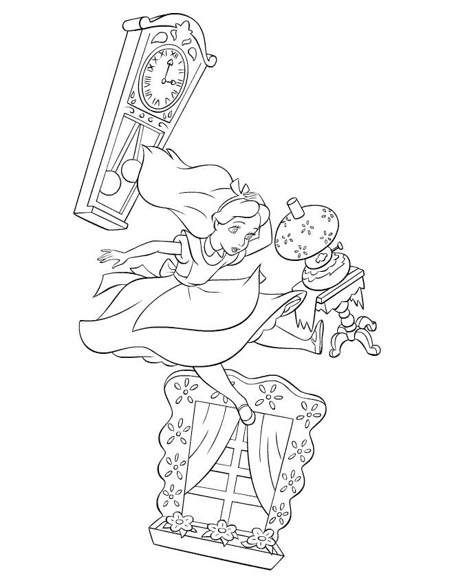 Coloriage et dessins gratuits Alice  tombe au pays des merveilles à imprimer