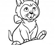 Coloriage et dessins gratuit Dinah: Alice au pays des merveilles à imprimer