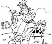 Coloriage La reine de coeur dans Alice