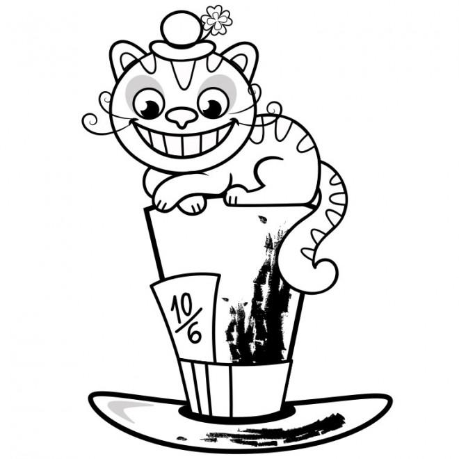 Coloriage et dessins gratuits Le cat d'Alice au pays des merveilles à imprimer