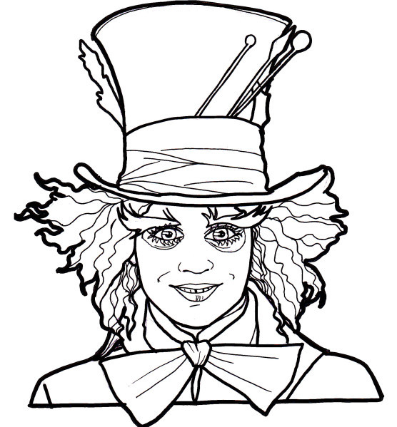 Coloriage et dessins gratuits Le Chapelier Fou Alice au pays des merveilles à imprimer