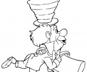 Coloriage et dessins gratuit Le Chapelier Toqué d'Alice à imprimer