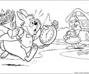 Coloriage et dessins gratuit Le lapin blanc d'alice au pays des merveilles à imprimer