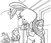 Coloriage Le Lapin Blanc gronde Alice