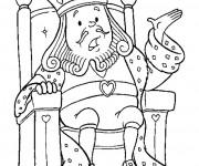 Coloriage Le roi de coeur: Alice au pays des merveilles