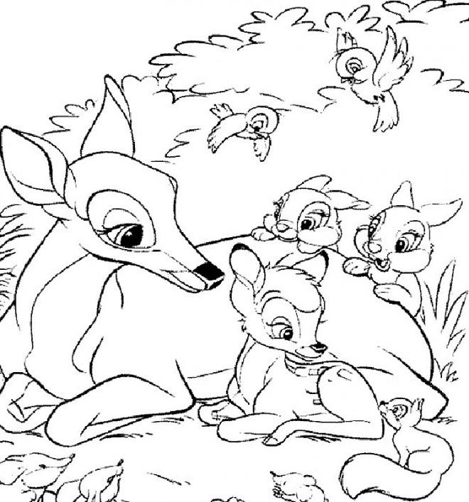 Coloriage Bambi Et Sa Mere Dessin Gratuit A Imprimer