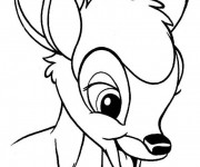 Coloriage Bambi simple à colorier