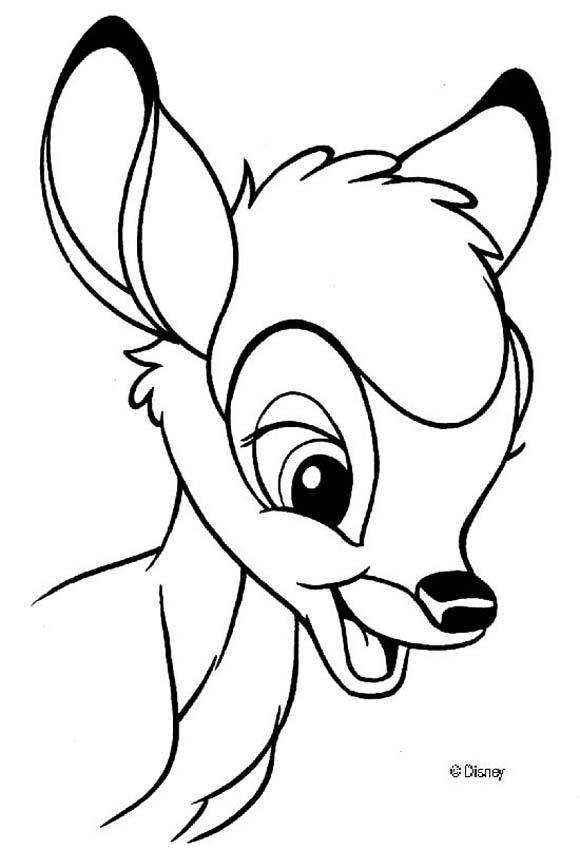 Coloriage et dessins gratuits Bambi simple à colorier à imprimer