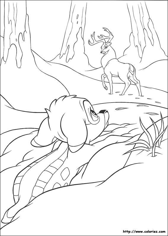 Coloriage et dessins gratuits Le grand prince adresse la parole à Bambi à imprimer