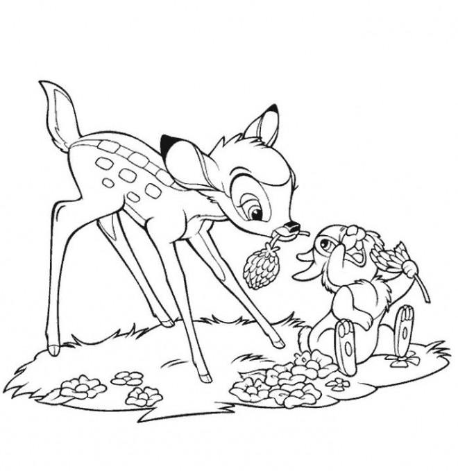 Coloriage et dessins gratuits Panpan offre une fleur à Panpan à imprimer