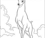 Coloriage Renno de Bambi