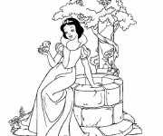 Coloriage Blanche Neige 74