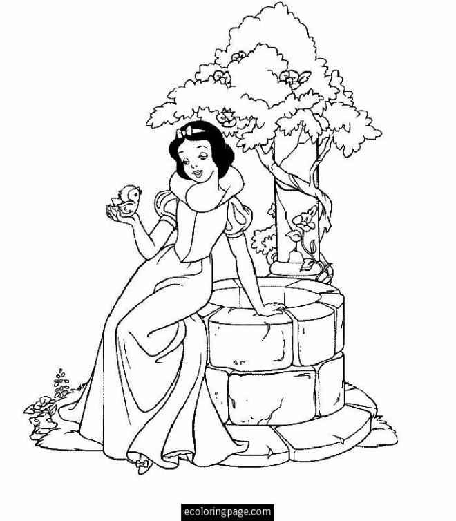 Coloriage et dessins gratuits Blanche Neige 74 à imprimer