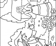 Coloriage Blanche Neige 76