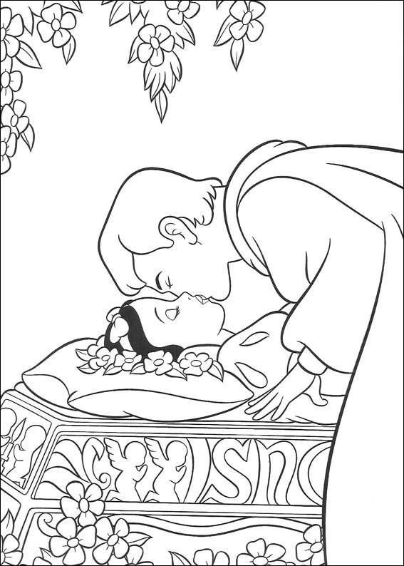 Coloriage Blanche Neige Et Son Charmant Dessin Gratuit à Imprimer
