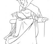 Coloriage et dessins gratuit Blanche Neige: La méchante reine à imprimer