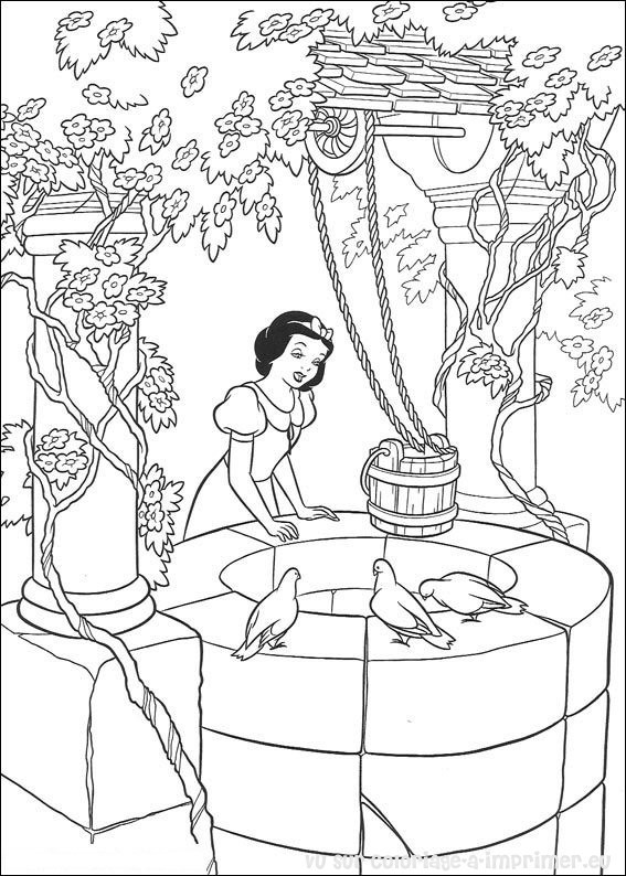 Coloriage et dessins gratuits Blanche remplit l'eau à imprimer