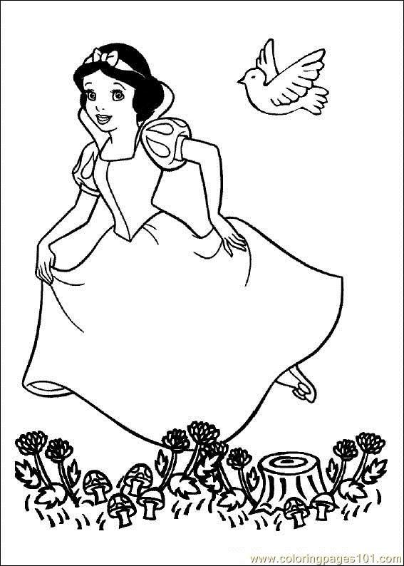Coloriage et dessins gratuits L'euphorie de blanche neige à imprimer