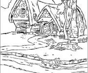 Coloriage et dessins gratuit La maison des 7 nains à imprimer