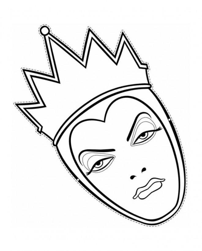 Coloriage et dessins gratuits La terrible reine à imprimer