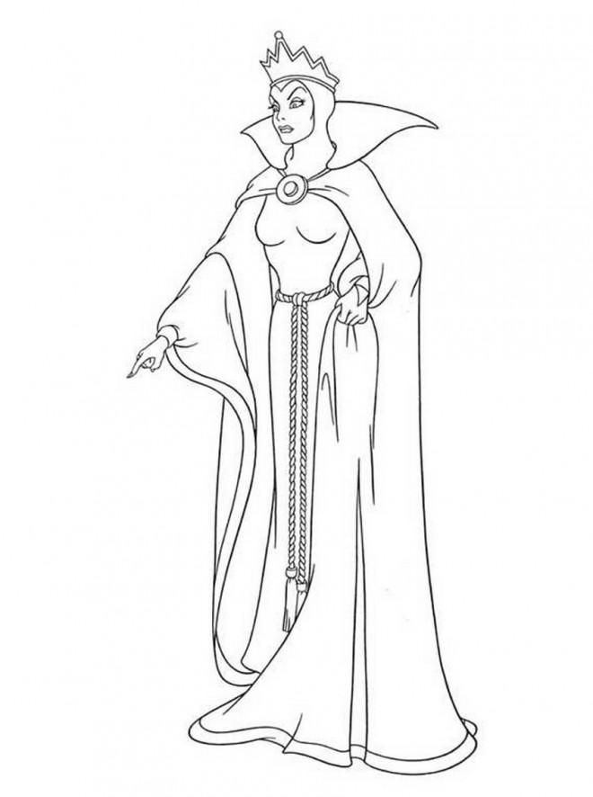 Coloriage et dessins gratuits La tyrannie de la reine à imprimer